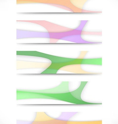 Collection of transparent web headers vector image