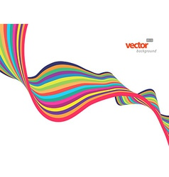 Colorful lines with place for text art vector image