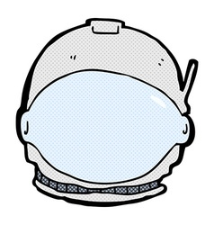Comic cartoon astronaut face vector