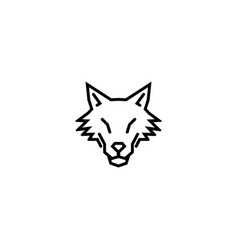 Creative abstract wolf logo vector