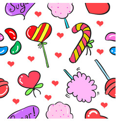 Doodle of candy sweet design art vector