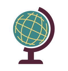 Earth model globe with planet for geography vector