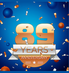 Eighty nine years anniversary celebration design vector