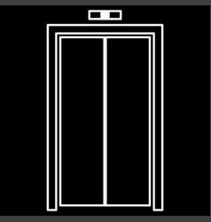 Elevator doors it is icon vector