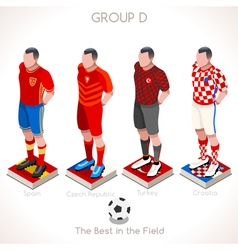 Euro 2016 championship group d vector