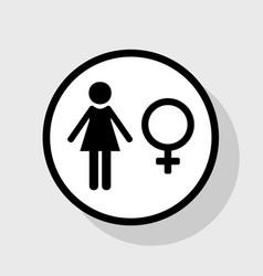 female sign flat black icon vector image