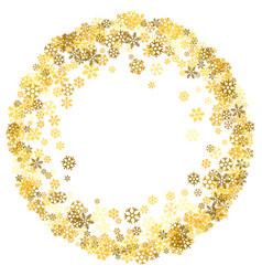 frame or border random scatter snowflakes vector image