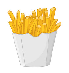 french fries in a paper cup vector image