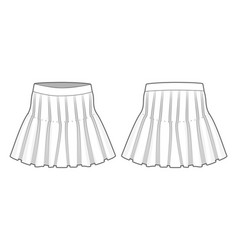 Front and back view a skirt vector