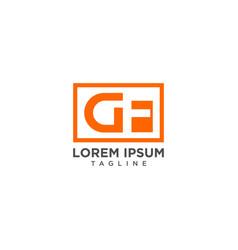 gf negative space logo vector image