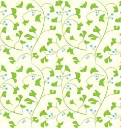Ginkgo seamless pattern vector