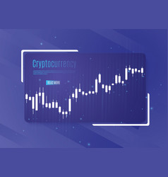 graph of cryptocurrency graphics and analytics of vector image