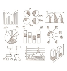 Graphs Charts and Diagrams Hand Drawn Business vector