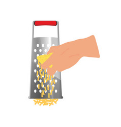 Grater tool with woman hand vector