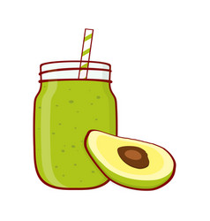Green smoothie poster vector
