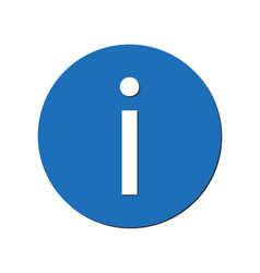 information icon in blue circle vector image