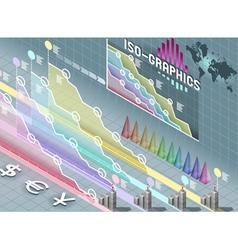 isometric infographic set elements vector image