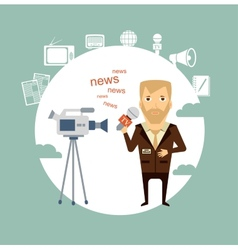journalist said on camera vector image