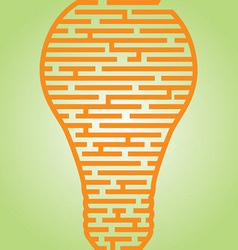 Light Bulb Maze vector image