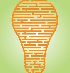Light Bulb Maze vector