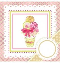 Lollipop bouquet on frame vector