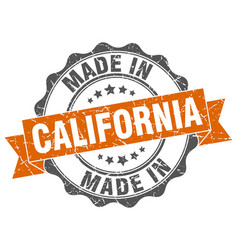 made in california round seal vector image