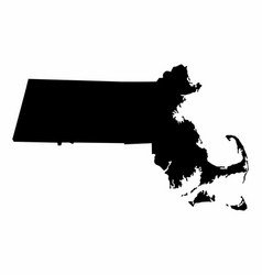 Massachusetts silhouette map vector