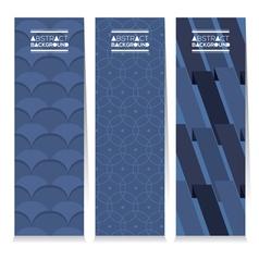 Modern Design Set Of Three Graphic Vertical Banner vector image