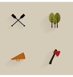 Mountain Camping Icons vector