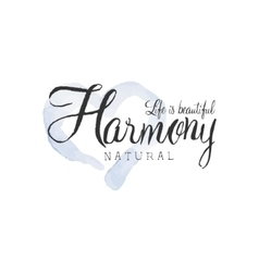 Natural Harmony Beauty Promo Sign vector