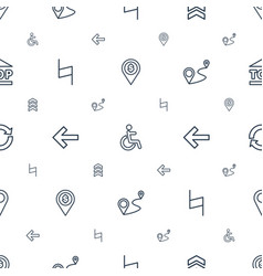 Navigation icons pattern seamless white background vector