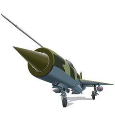 old jet fighter vector image
