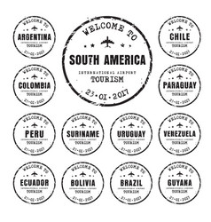 Old stamps with name south american vector