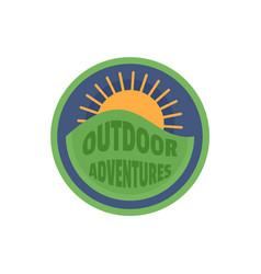 outdoor sun adventures logo flat style vector image