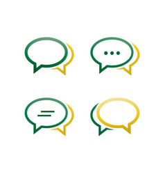 oval bubble chat pack vector image