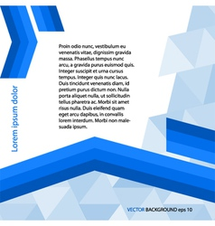 page template gray triangle blue line layout vector image