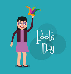 people celebration fools day vector image