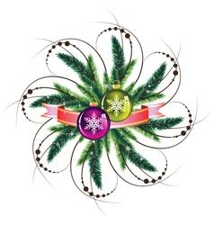 Pine wreath vector