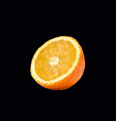 Polygonal orange vector