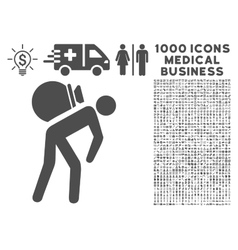Porter Icon with 1000 Medical Business Symbols vector