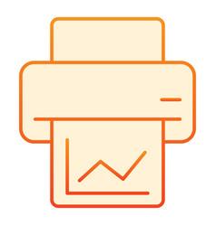 Printout flat icon printer orange icons in trendy vector