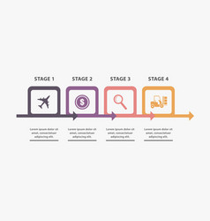 project info stages vector image