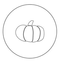 Pumpkin icon black color in circle vector