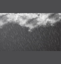 rain drops with clouds on transparent background vector image