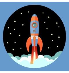 Rocket start emblem vector