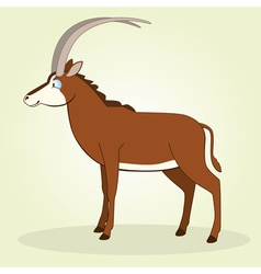 Sable antelope vector