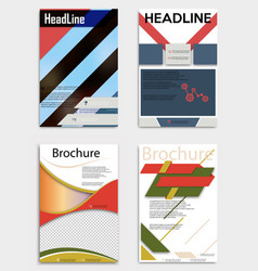 set of business multipurpose annual report vector image