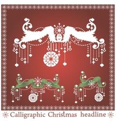 set of Christmas headlines vector image
