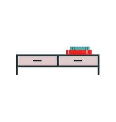 simple short console table with drawers or tv vector image