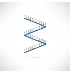 Stairs White vector